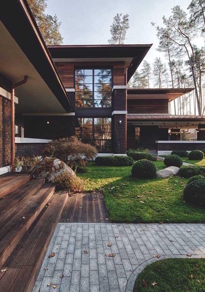 O piso intertravado combina com tudo: de madeira à pedras