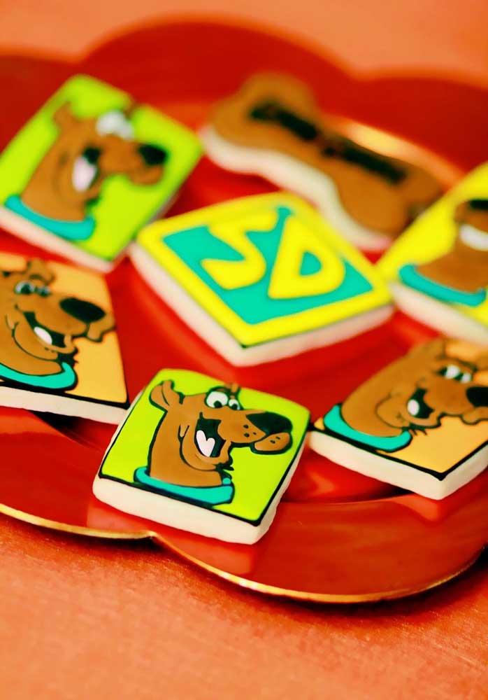 Biscoitinhos decorados Scooby Doo