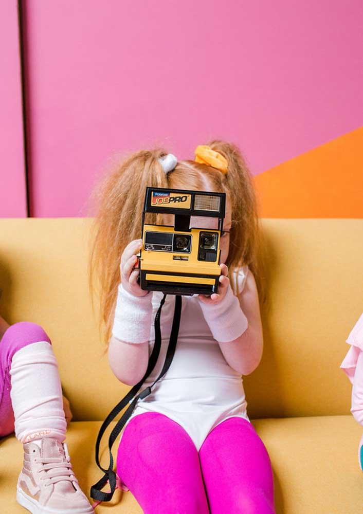 As crianças vão se divertir com máquinas polaroid