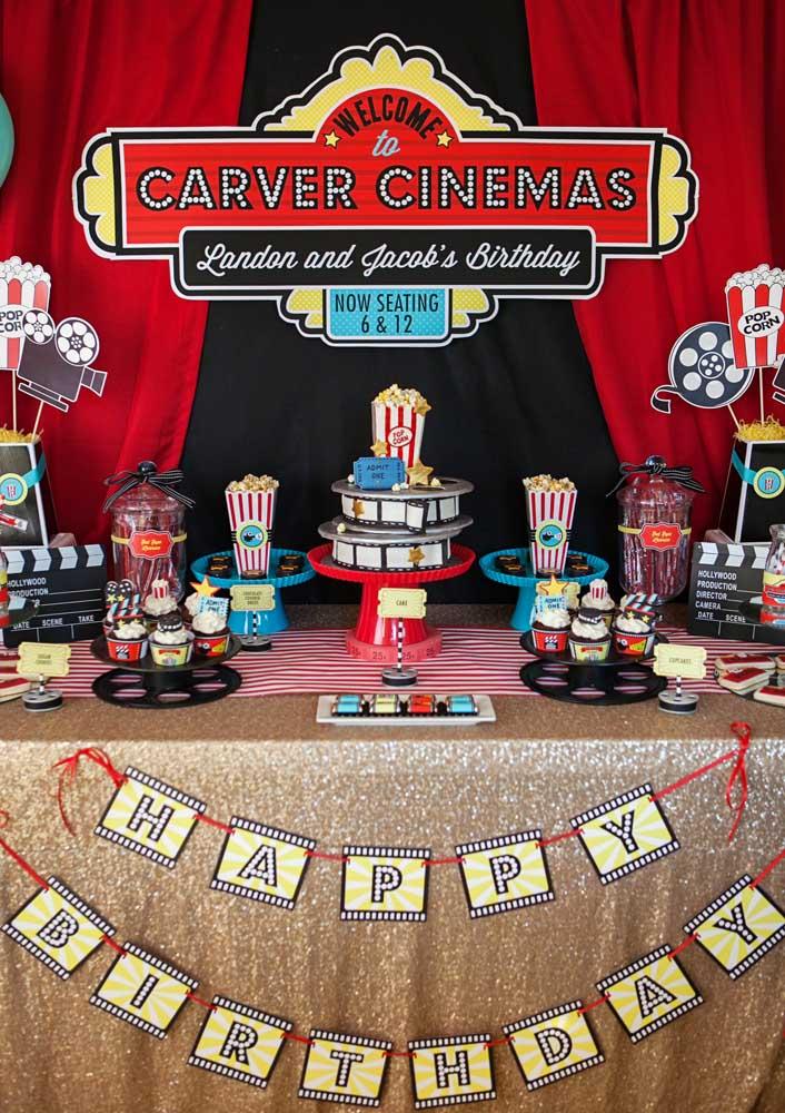 Festa infantil cinema digna de um Oscar