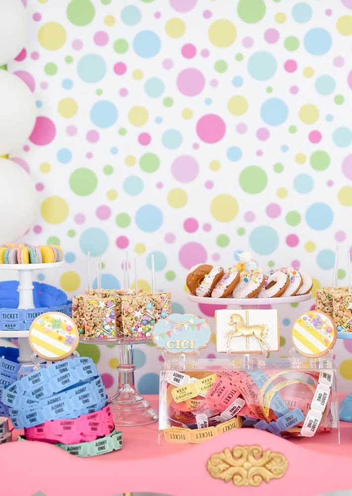 Uma mesa de doces para deixar todo mundo boquiaberto