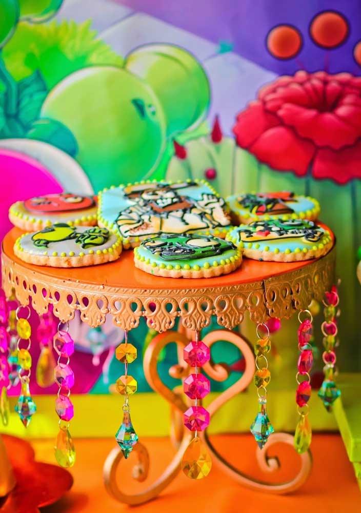 Os biscoitinhos decorados são importantes, não se esqueça deles!