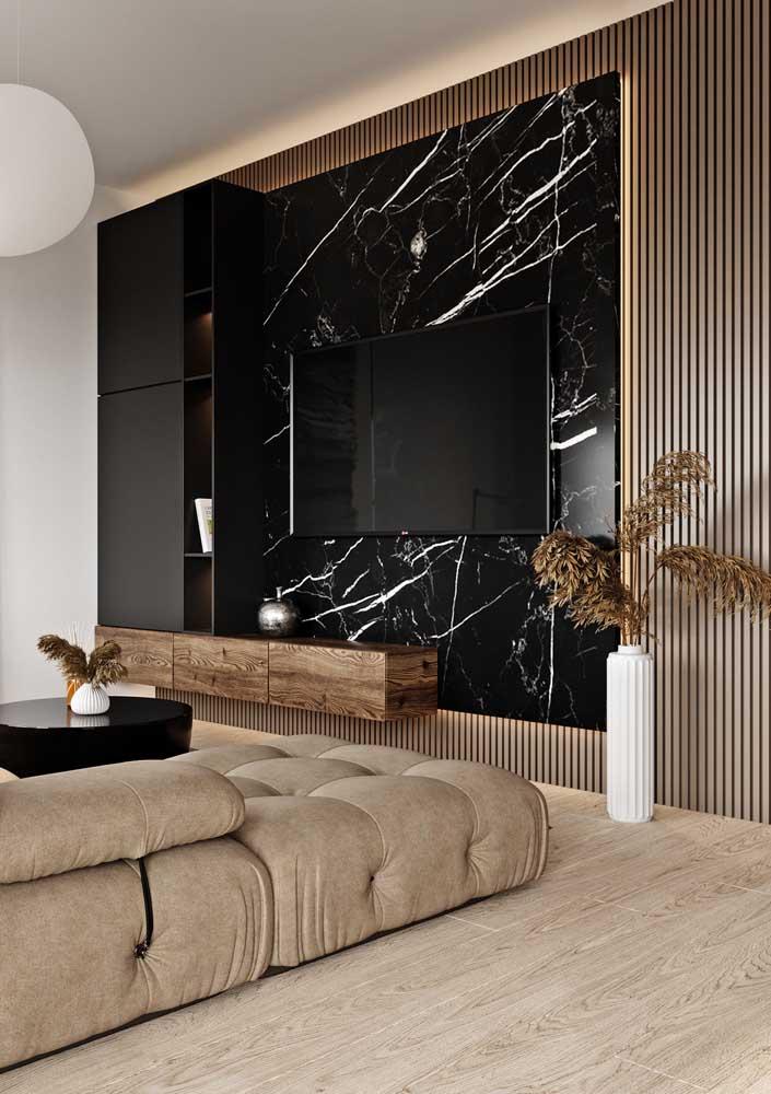 A combinação entre mármore e madeira não poderia ser mais incrível!
