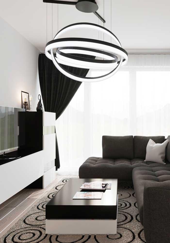 Painel branco para a sala minimalista