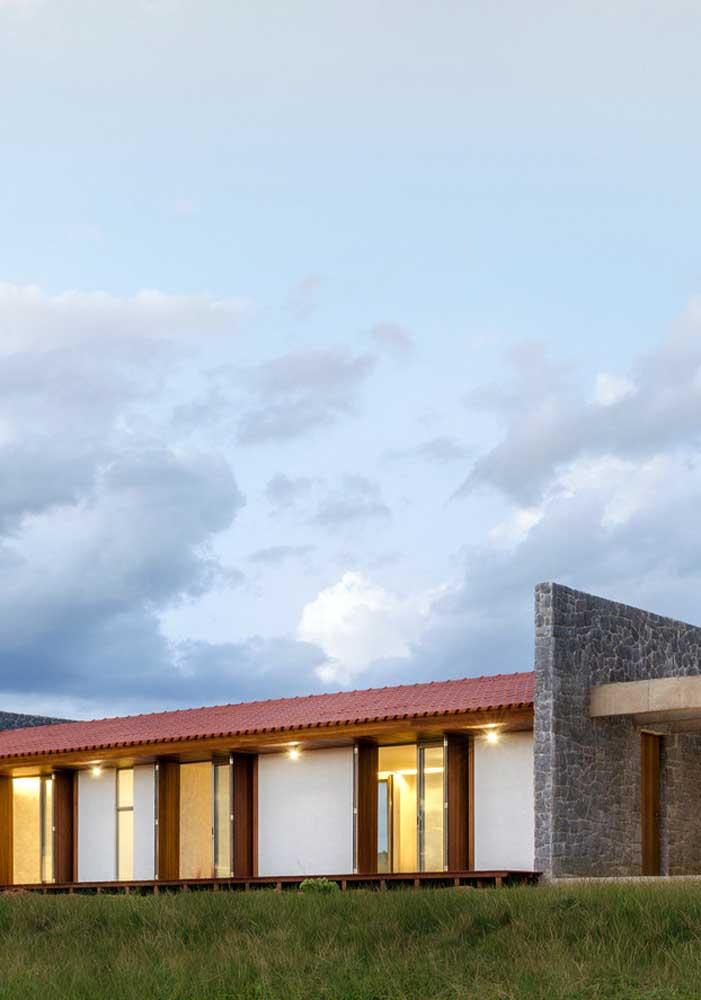Telhas cerâmicas para a casa de arquitetura moderna
