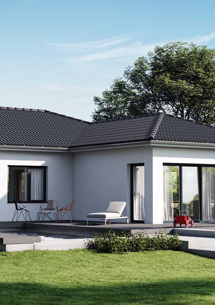 Telhados aparentes se beneficiam das telhas esmaltadas