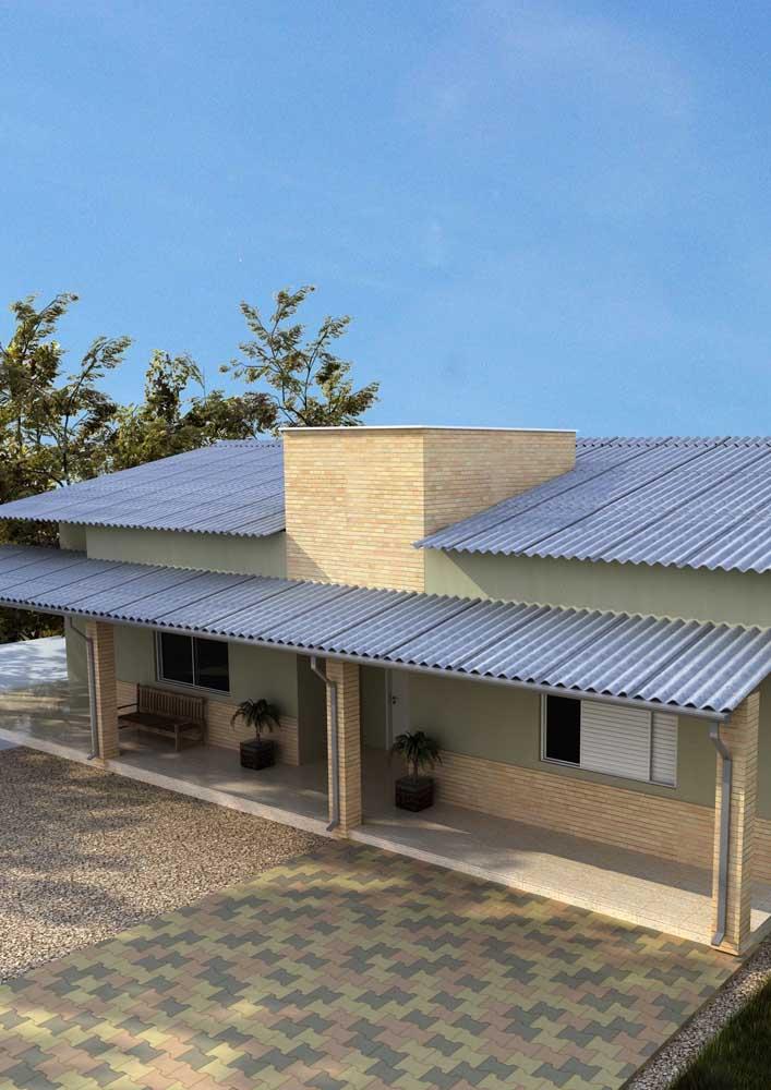 Um telhado simples, mas funcional e bonito como deve ser