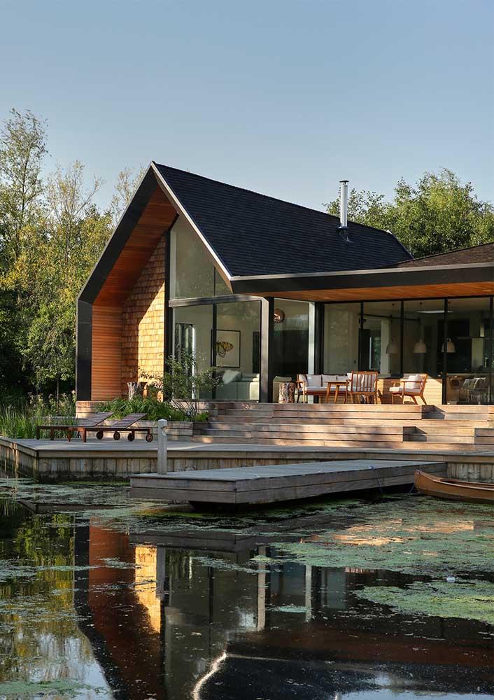 As casas modernas ficam lindas com as telhas Shingle