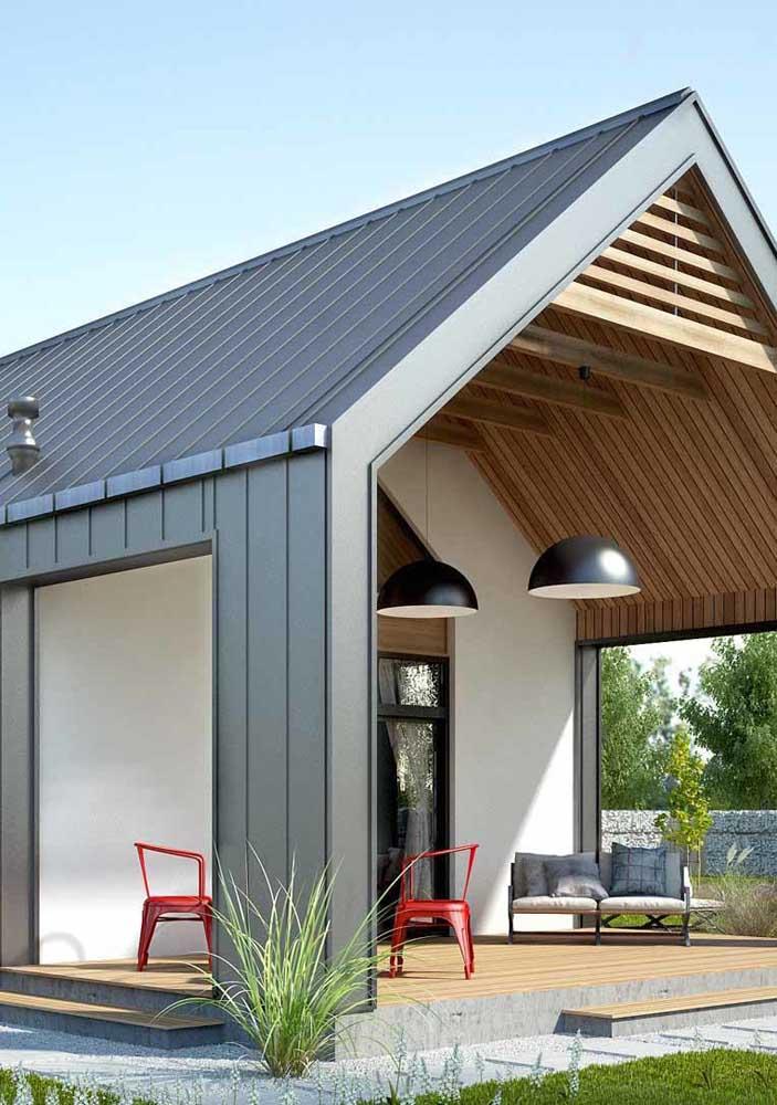 Telha termoacústica para o telhado e as paredes