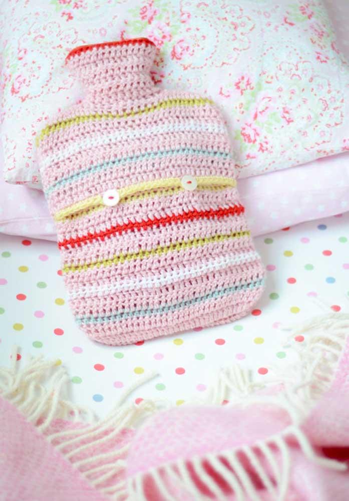Se for fazer crochê para bebês use linhas antialérgicas