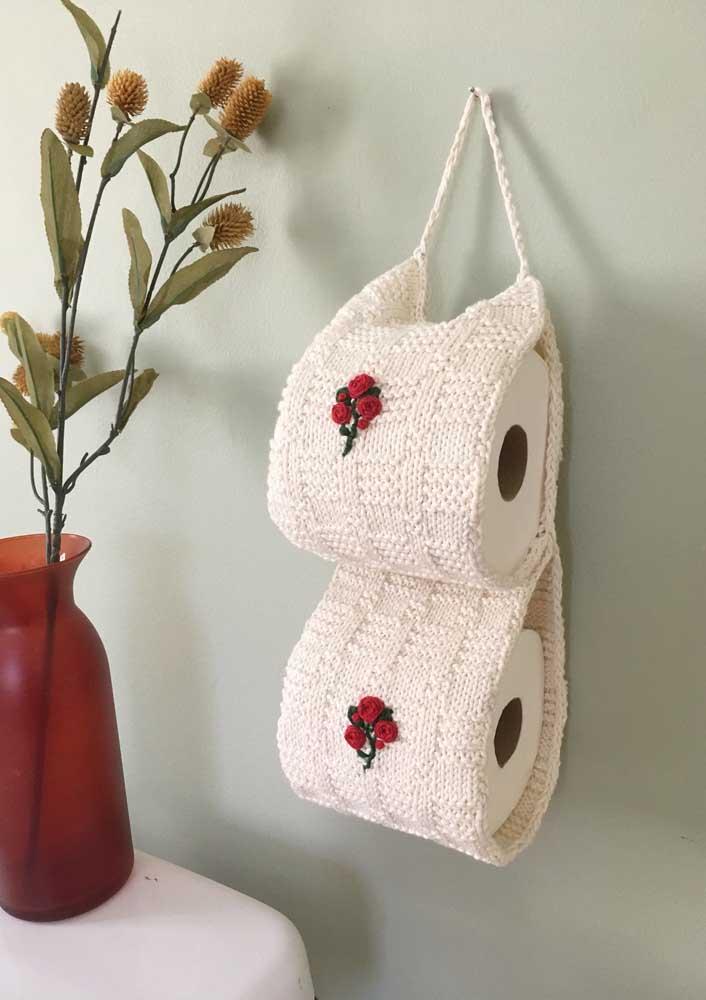 Porta papel higiênico de crochê: outra peça que não pode faltar