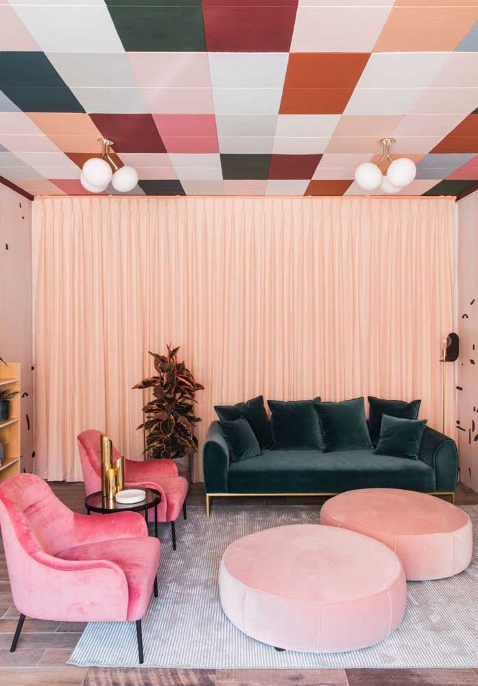 Cores vibrantes para uma decor minimalista