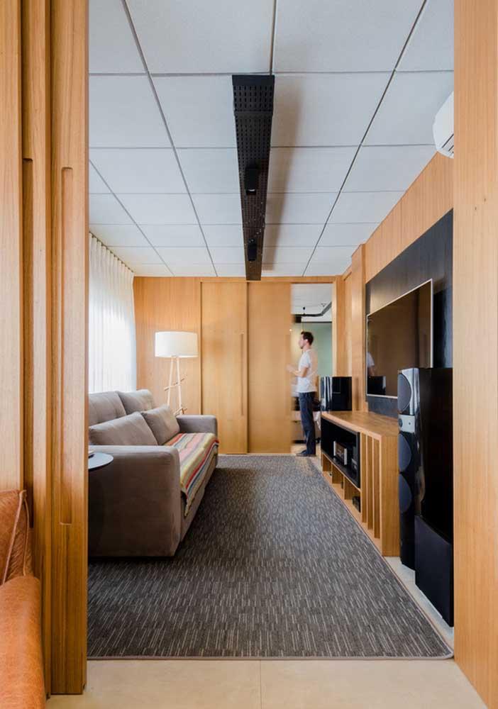 Espaço para circulação é uma necessidade nas salas pequenas