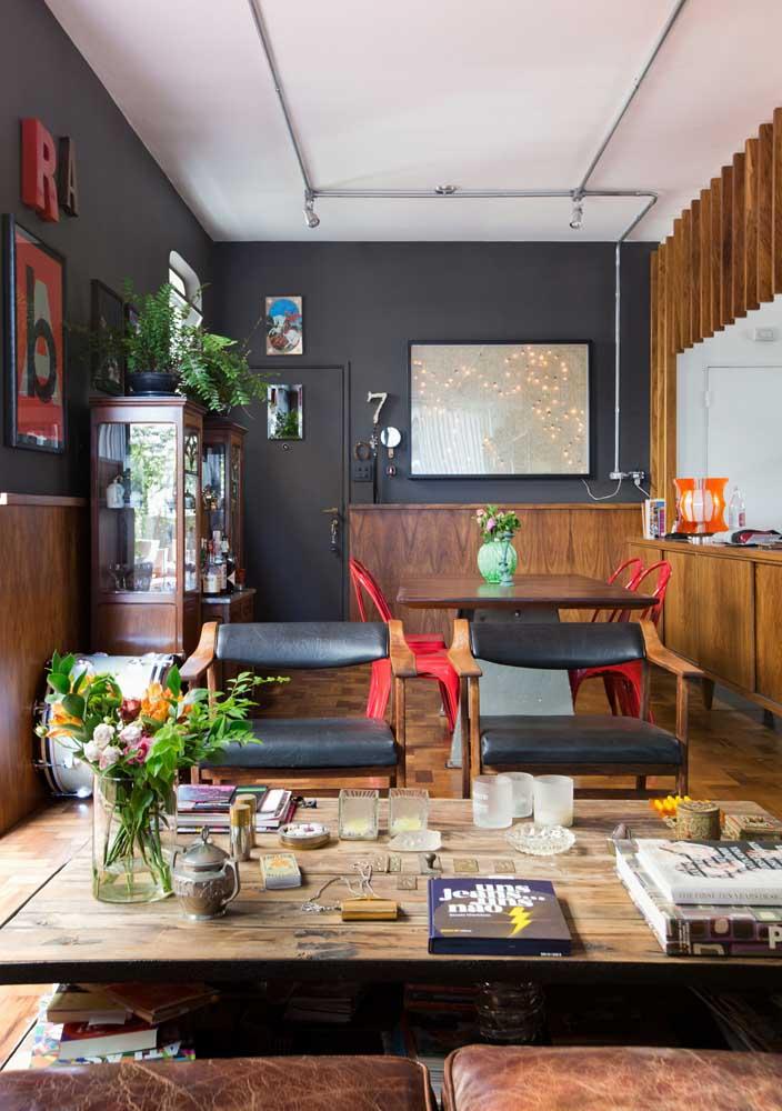 Integração, estilo e personalidade nessa decoração de sala pequena
