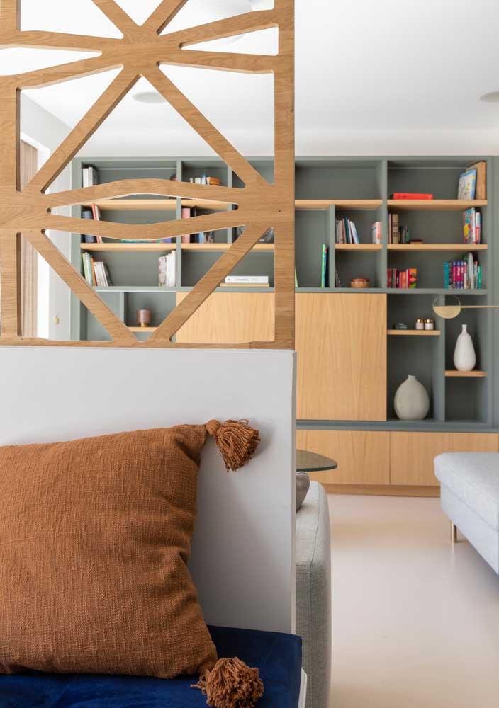 Divisórias são ótimas para salas pequenas