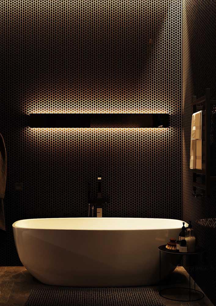 Um banheiro decorado que é puro luxo!