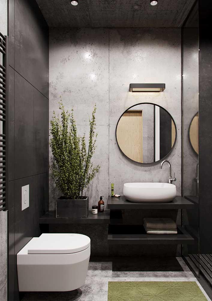 Banheiro decorado moderno: menos é mais.