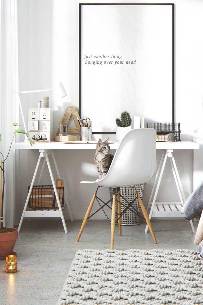 Quadros Tumblr com frases motivacionais são perfeitas para home office