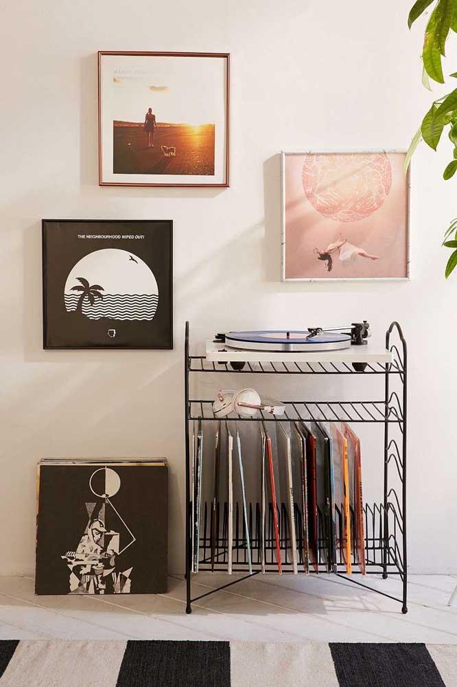 Os quadros Tumblr podem ser usados para valorizar um espaço da casa que você gosta muito