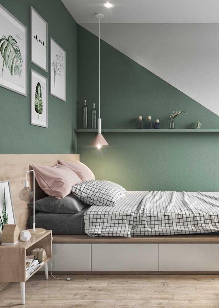 Verde e rosa: cores complementares para uma decoração de quarto harmoniosa