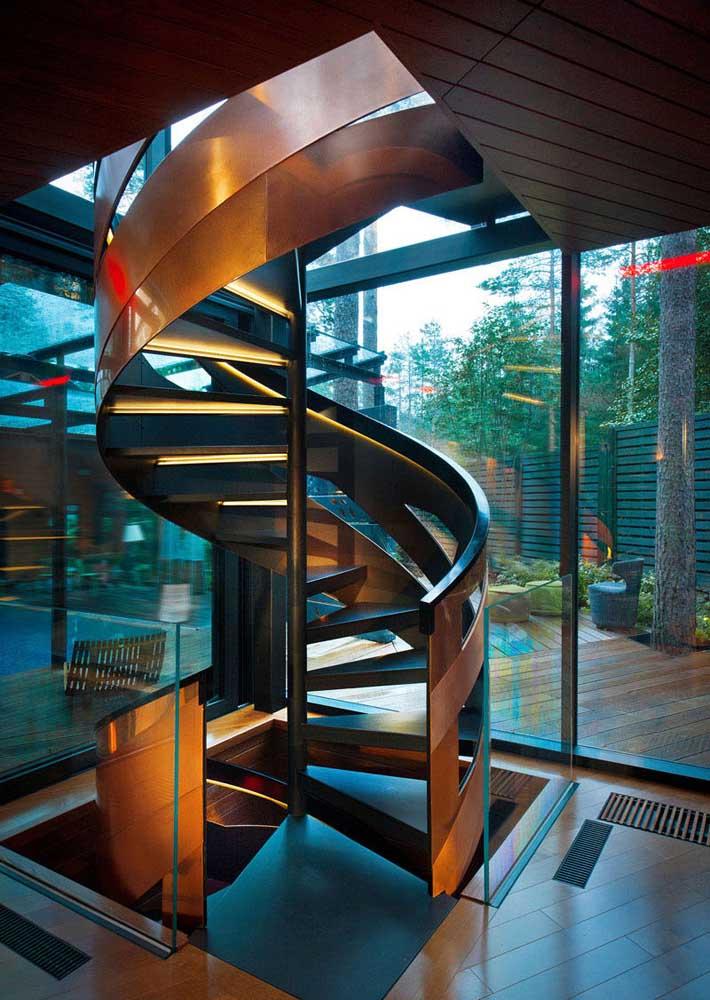 Uma iluminação especial para a escada também!