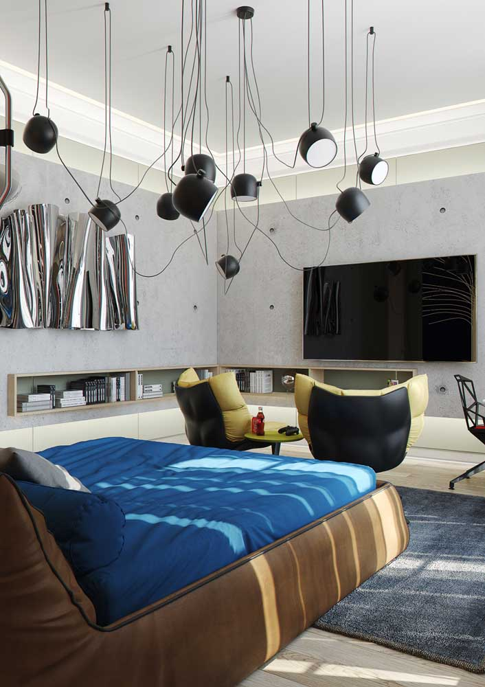Um jeito moderno de iluminar o quarto