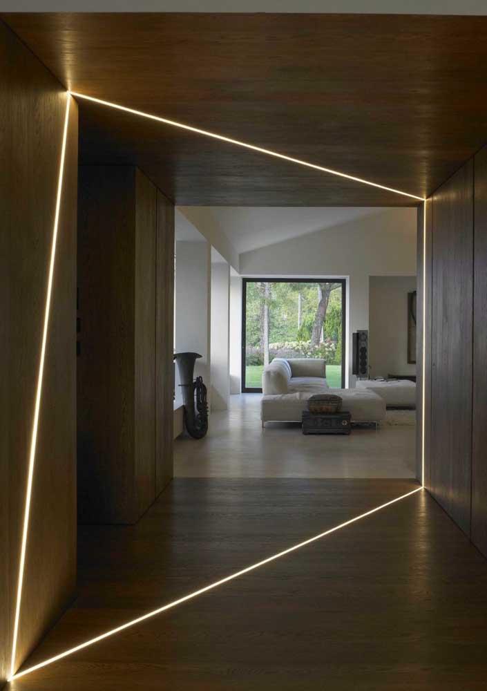 Efeitos de luz para uma casa moderna