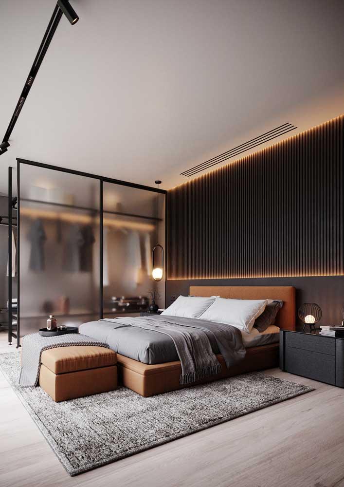 Luzes quentes para esse projeto luminotécnico no quarto