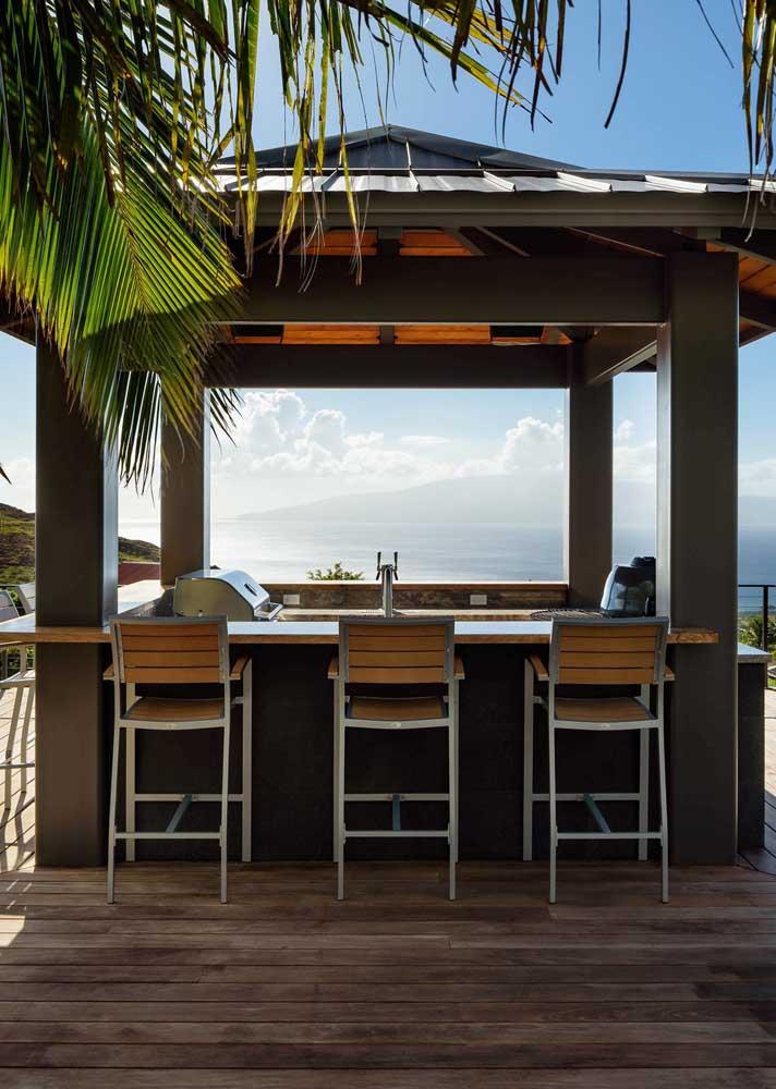Aquele espaço perfeito para relaxar e saborear um churrasco