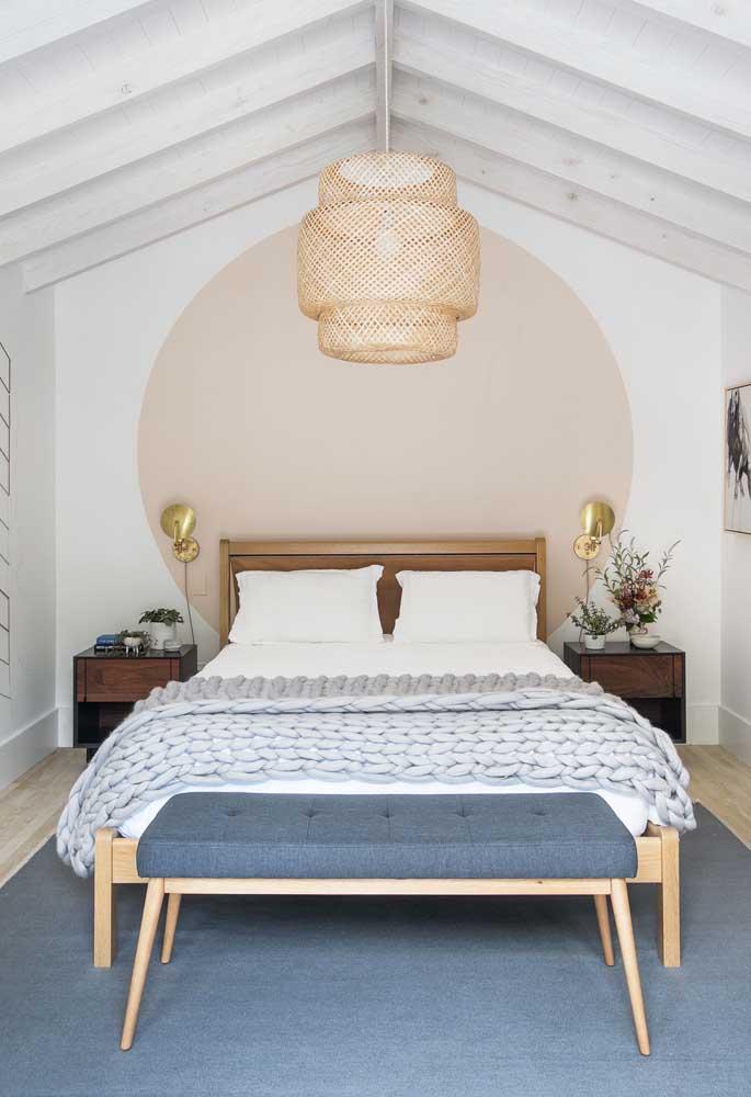 Combinação de cores delicadas e românticas para o quarto de casal