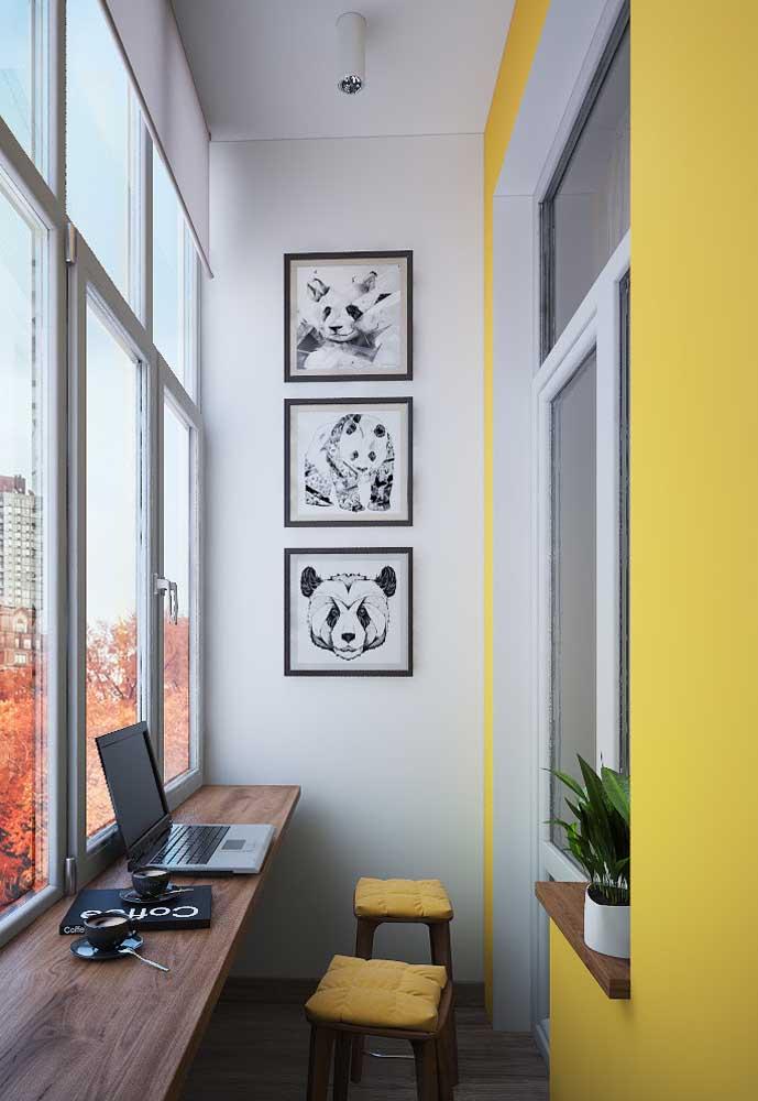 Energize o home office com uma parede amarela
