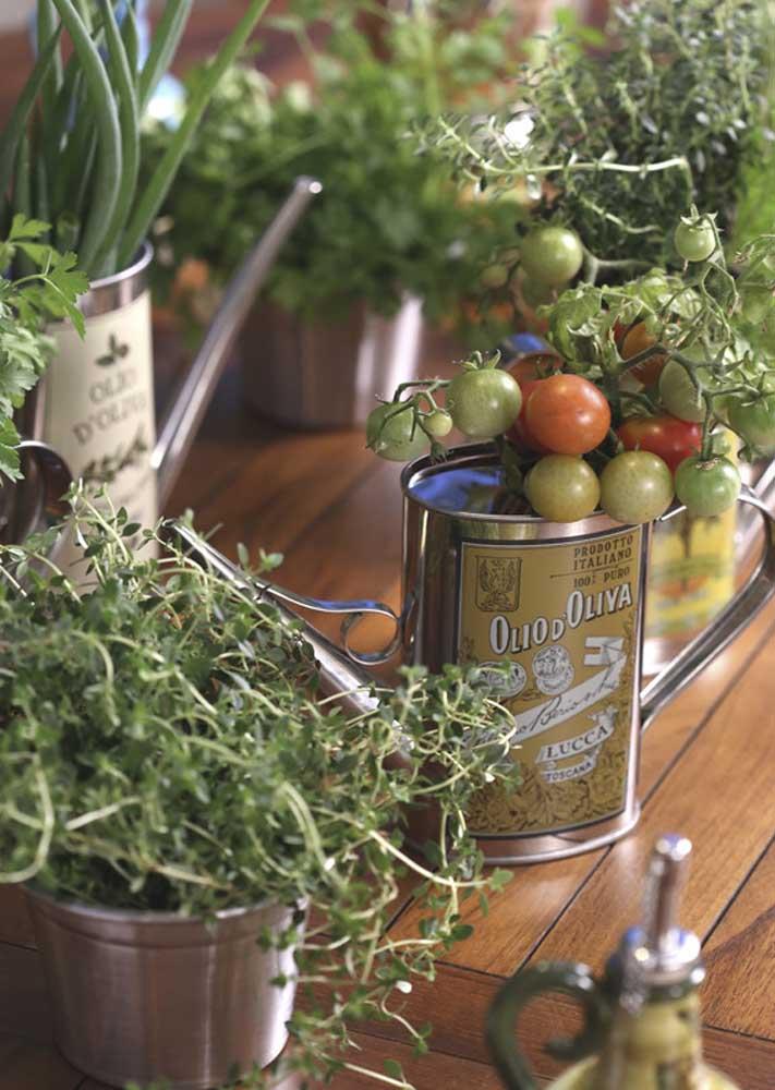 Use ervas frescas e temperos naturais para decorar a noite de queijos e vinhos