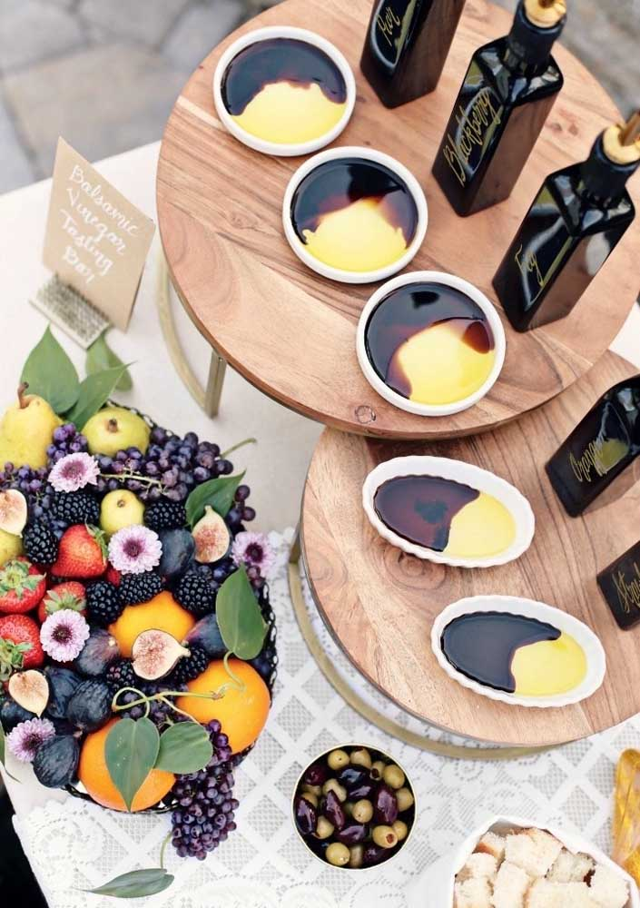 As frutas são parte da decoração