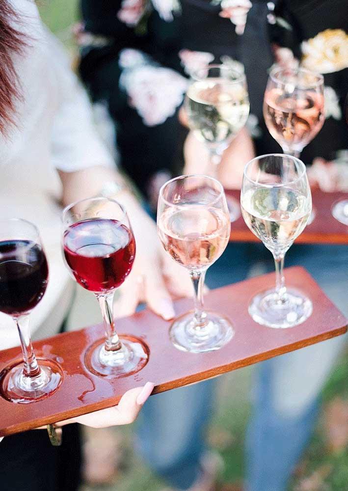 Quantas opções de vinho você pretende servir?