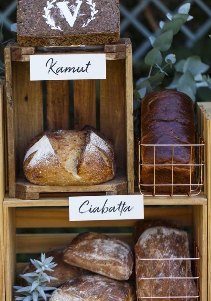 Os pães tornam tudo mais bonito e gostoso