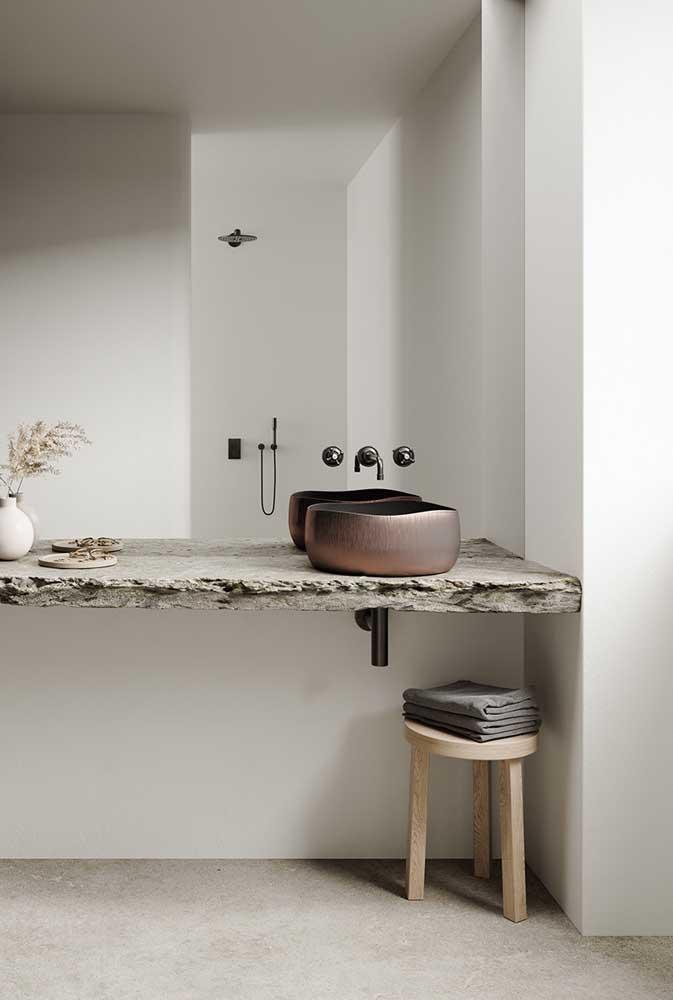 Bancada de mármore minimalista e moderna