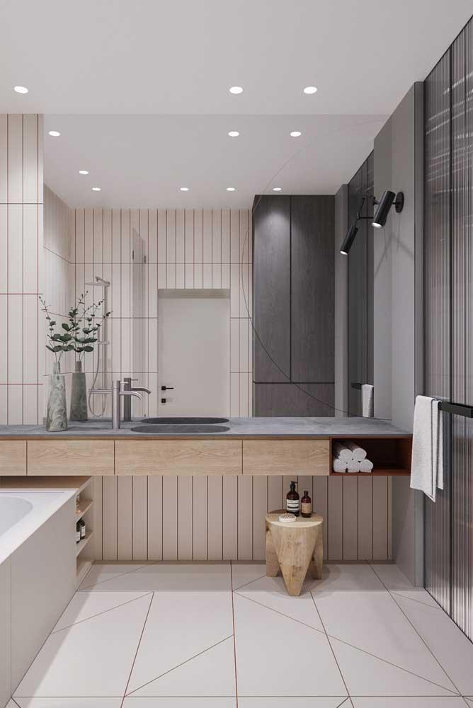 Bancada de banheiro suspensa com gavetas: design moderno e funcional