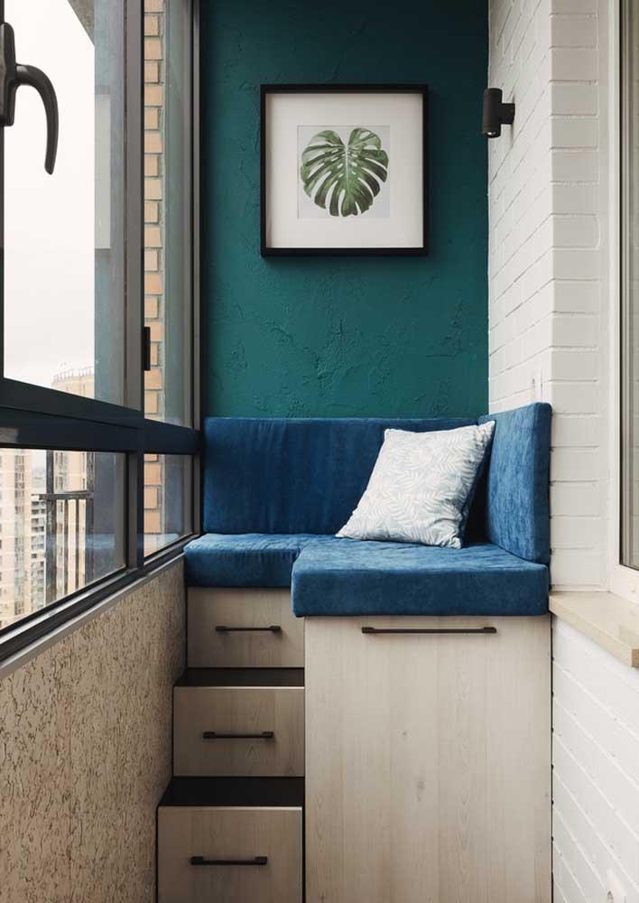Para a varanda, uma textura é discreta