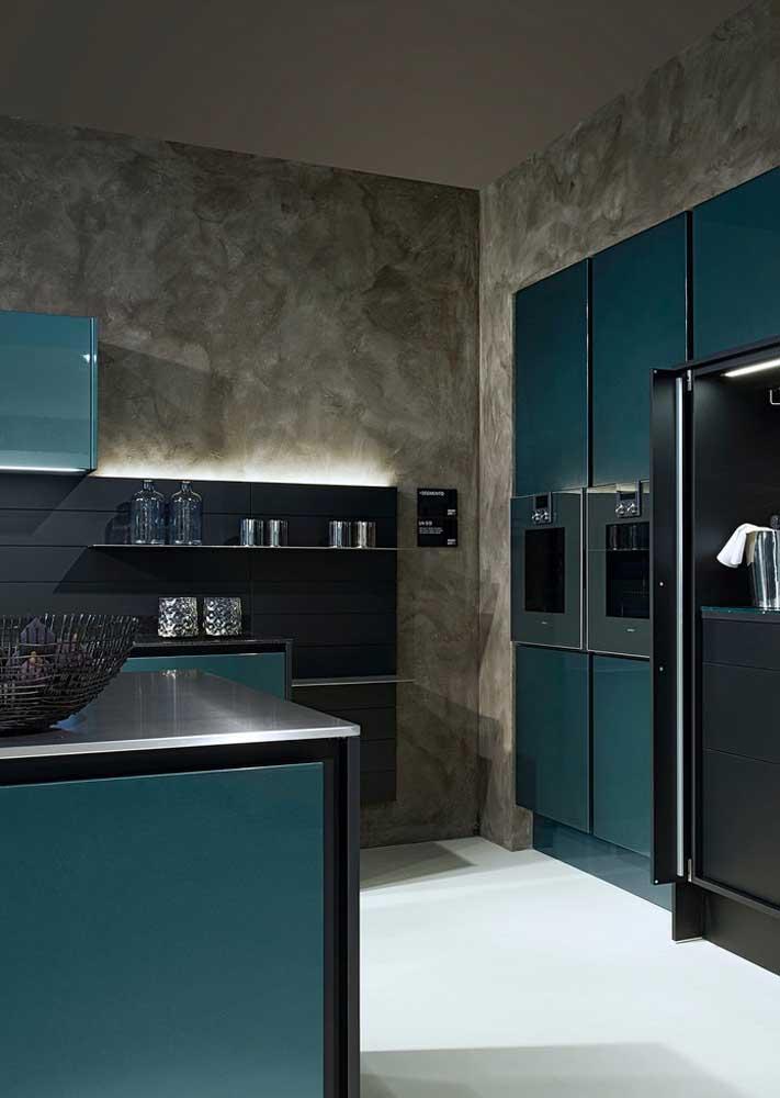 Uma textura moderna para combinar com o estilo da cozinha
