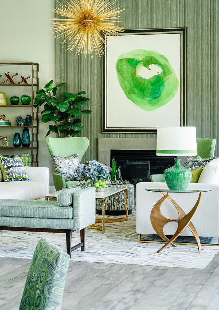 Textura verde seguindo a paleta da sala