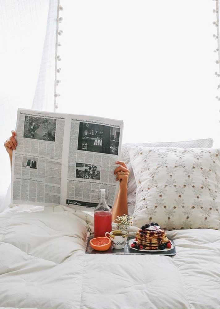 Bom dia com café da manhã na cama!