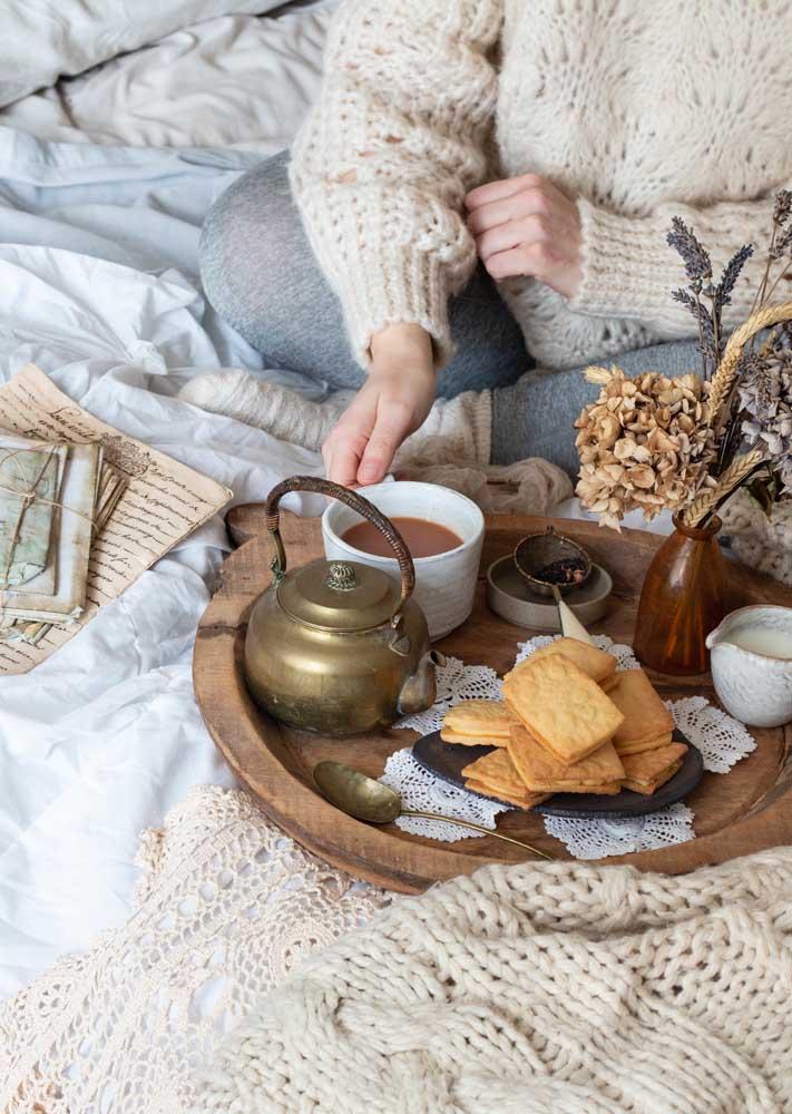 Que tal um café da manhã simples e saboroso para aquecer aquele dia de inverno?