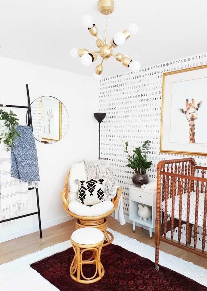 Papel de parede para o quartinho do bebê: um revestimento de parede com fácil manutenção