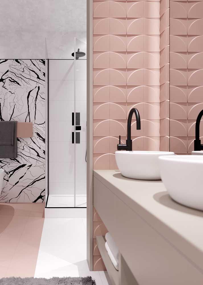 Revestimento de parede 3D para o banheiro: uma alternativa aos revestimentos comuns