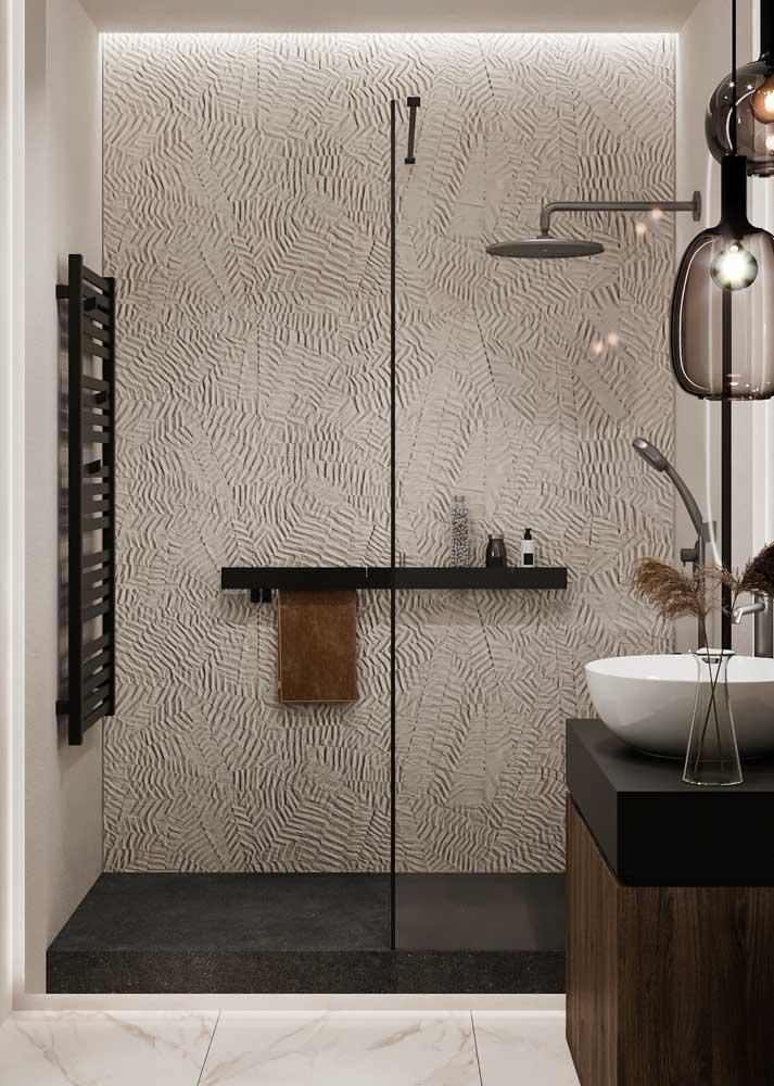 Textura de parede para a área do banho