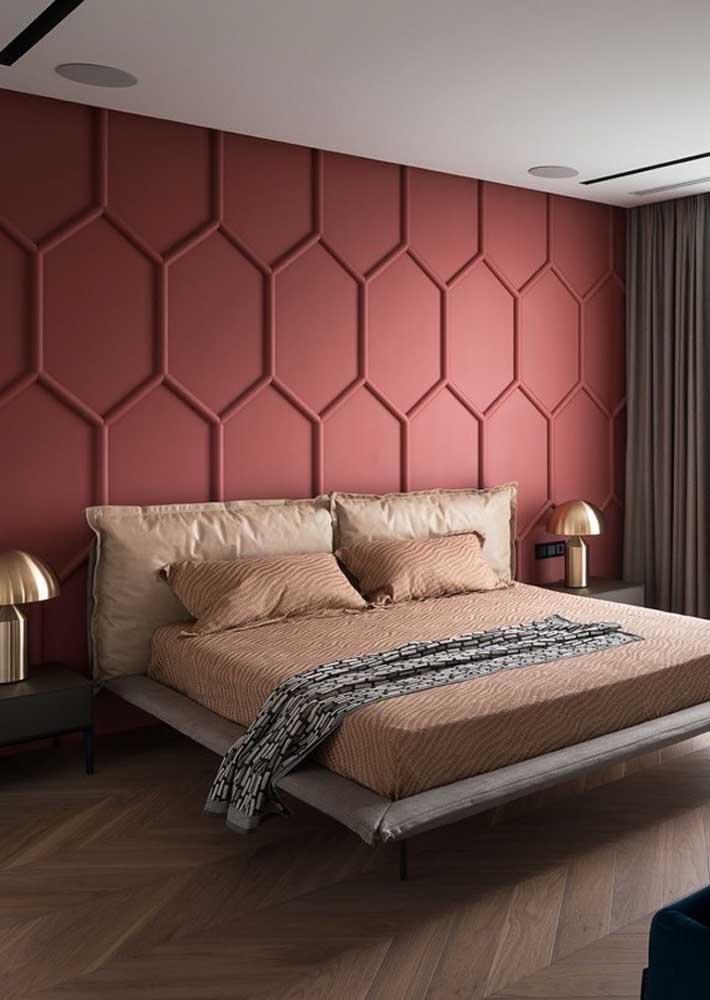 Revestimento de parede 3D para o quarto: a versatilidade do gesso permite a criação de diversos desenhos