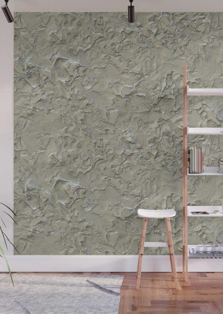 Que tal uma versão moderna e abstrata de revestimento de parede?