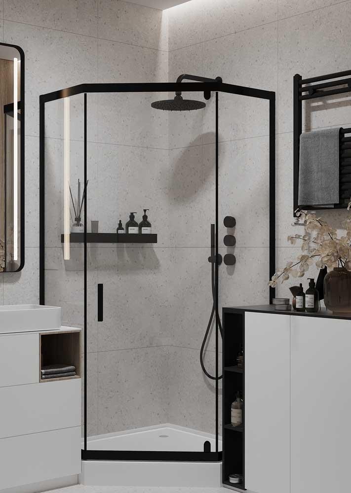 Revestimento de parede branco para banheiro: um clássico