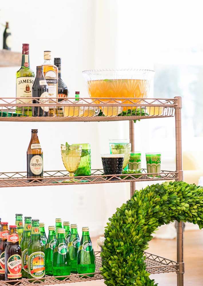 Cerveja e uísque não podem faltar em uma legitima festa de São Patrício