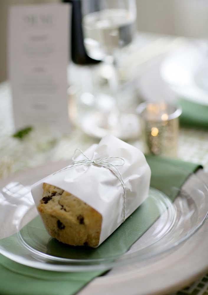 Bolinhos individuais para os convidados